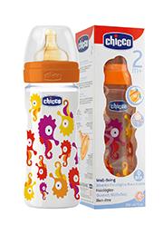 Бутылочка пластик Ironic, 0% BPA, соска латекс, 250 мл /60057/