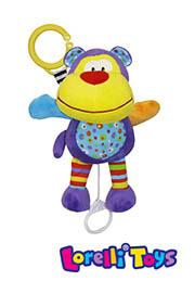 """Музык. игрушка подвеска """"FUNNY MONKEY"""", Lorelli /10190881302/"""