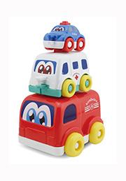 Set mașinuțe pentru bebeluși 3 buc. FUNNY CARS /11062/