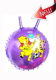 Детский гимнастический мяч с рожками /09572/
