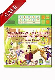 Книга с мини компьютером АРИФМЕТИКА-МАЛЫШКА /70068/