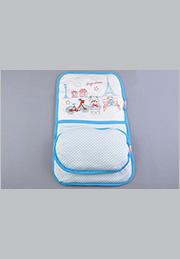 Set în carucior pentru nou-născuți: saltea cu buzunar + pernuța /31132/