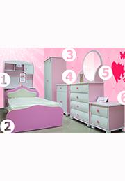 Набор мебели для детской комнаты LITTLE LADY