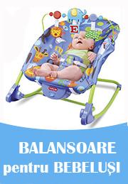 Balansoare pentru bebeluși