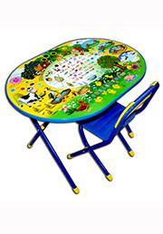 Set birou cu scaunel, Oval