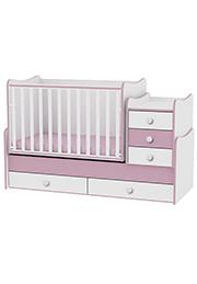 Кроватка детская Bambini COMFORT NEW White&Pink