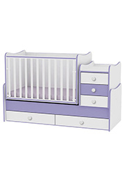 Patuc pentru copii Bambini COMFORT NEW White&Violet