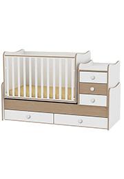 Кроватка детская Bambini COMFORT NEW White&Book