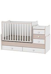 Кроватка детская Bambini COMFORT NEW White&Cremona