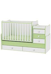 Кроватка детская Bambini COMFORT NEW White&Green