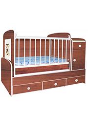 Кроватка детская Bambini COMFORT Plus Cherry&Beige