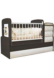 Кроватка детская Bambini COMFORT VIP Oreh&White