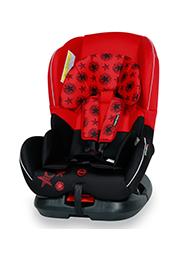 Автокресло 0-18 кг Bertoni CONCORD Black&Red Stars