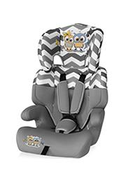 Автокресло 9-36 kg Lorelli JUNIOR Grey Baby Owls