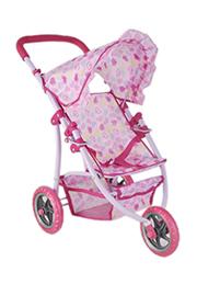 Кукольная коляска трёхколёсная /35950/