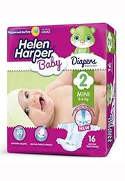 Подгузники Helen Harper Baby MINI (3-6 kg), 16 шт. /2310844/