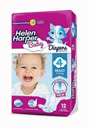 Подгузники Helen Harper Baby MAXI (7-18 kg), 12 шт. /2310846/