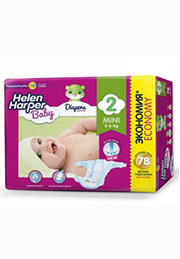 Подгузники Helen Harper Baby MINI (3-6 kg), 78 шт. /2310854/