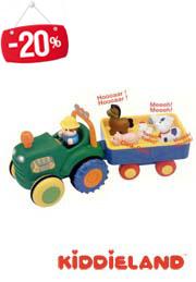 Jucarica pe roti - Tractor cu remorcă, Kiddieland /47533 /