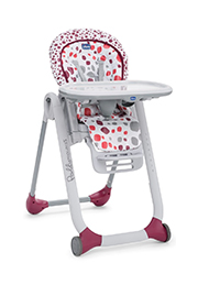 Scaun de masa CHICCO Polly Progress Cherry