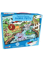 Puzzle-colorare Animal Party /68659/