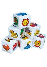 Кубики мягкие, 6 шт. /90897/