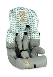 Scaun auto 9-36 kg Lorelli JUNIOR Grey&Green Cute Bear