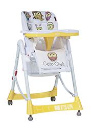 Стульчик для кормления Lorelli PRIMO Yellow Cute Owls