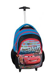 """Rucsac scolar cu rotile """"Cars"""" PASO /DAK-997/"""