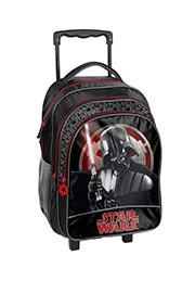 """Rucsac scolar cu rotile """"Star Wars"""" PASO /54902/"""