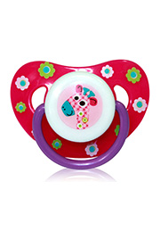 Suzeta Lorelii ZOO Pink, 0-6 luni, silicon /1022044/