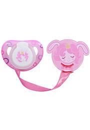Пустышка с держателем Lorelli Pink Princess /1022049/