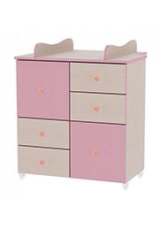 Comod p/u copii Lorelli New Oak/Pink