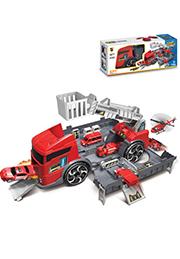 Игровой набор паркинг-гараж Пожарный трейлер /174794/