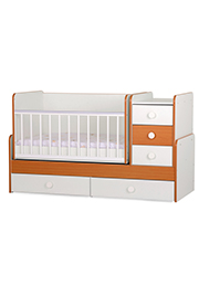 Кроватка детская Bambini COMFORT NEW White&Cherry