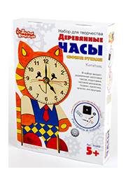 Деревянные часы своими руками с красками «Котенок» /019635/