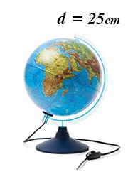 Интерактивный глобус Globen INT12500284, d=25 см