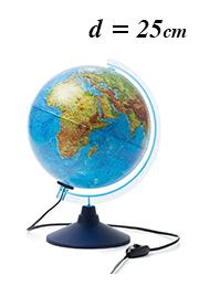 Интерактивный рельефный глобус Globen INT12500286, d=25 см