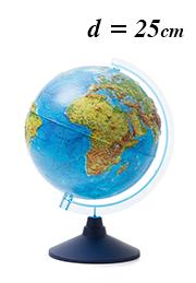 Glob interactiv cu relief Globen INT12500287, d=25 см