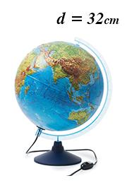 Интерактивный рельефный глобус Globen INT13200290, d=32 см