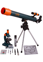 Set Levenhuk LabZZ MT2: microscop cu telescop /504782/