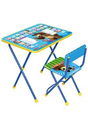 """Набор складной мебели столик+стульчик """"Маша и Медведь"""" англ. алфавит КП 2/4 /833661/"""