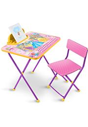 """Набор складной мебели столик+стульчик Disney """"Принцесса"""" Д2П /833456/"""