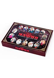 Карточная игра «Мафия» с масками в коробке /026206/