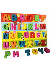 Set din lemn Alfabet Engleza /414582/