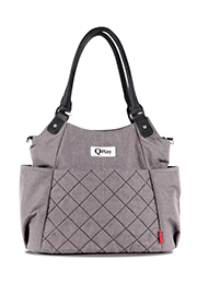 Сумка для мамы TOTE + termobox QPlay  Light GREY /10040140001/