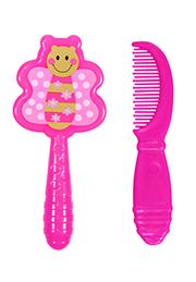 Set pieptan cu perie Lorelli Pink Butterfly /1024027/