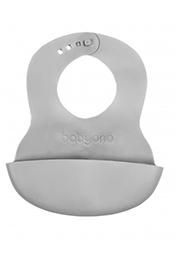 Мягкий силиконовый нагрудник с регулируемой застёжкой BabyOno /0835/
