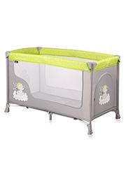 Кровать-манеж Lorelli SAN REMO 1 Green&Grey Elephants