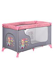 Кровать-манеж Lorelli MOONLIGHT 1 Pink Travelling
